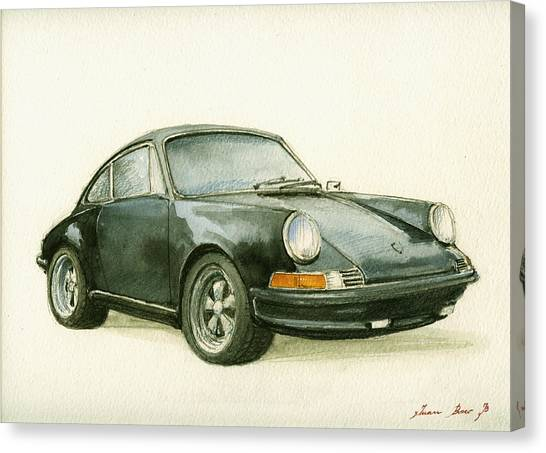Porsche Canvas Print - Porsche 911 Classic Car Art by Juan  Bosco