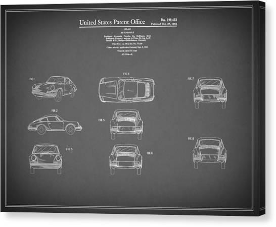 Patent Canvas Print - Porsche 911 Patent 1964 by Mark Rogan