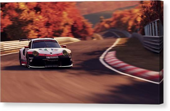 Porsche 911 Rsr, Nordschleife - 41 Canvas Print