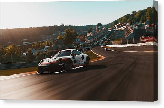 Porsche 911 Rsr, Spa-francorchamps - 33 Canvas Print
