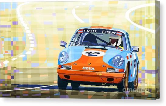 Automobiles Canvas Print - Porsche 911 S  Classic Le Mans 24  by Yuriy Shevchuk