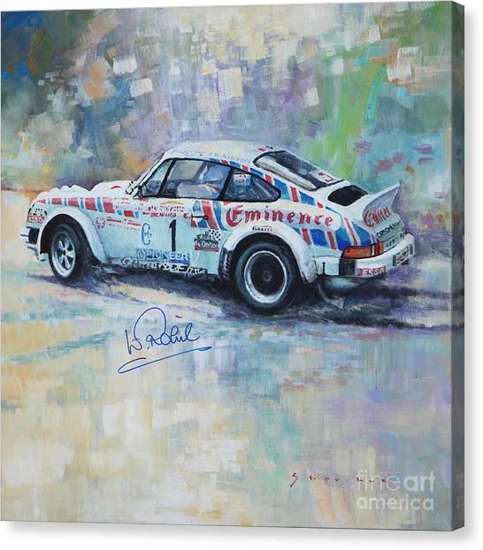On Canvas Print - Porsche 911 Sc  Rallye Sanremo 1981 by Yuriy Shevchuk