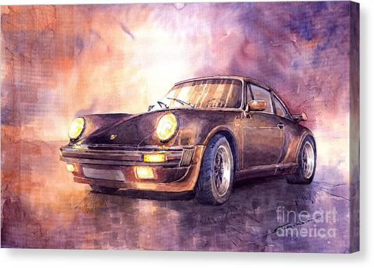 Porsche Canvas Print - Porsche 911 Turbo 1979 by Yuriy Shevchuk