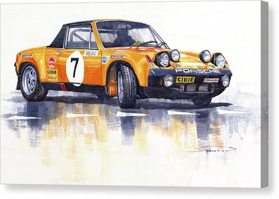 Porsche Canvas Print - Porsche 914-6 Gt Rally by Yuriy Shevchuk