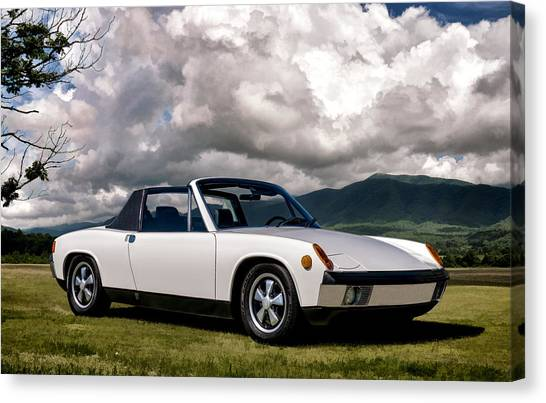 German Canvas Print - Porsche 914 by Douglas Pittman