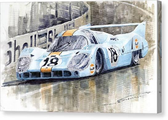 Racing Canvas Print - Porsche 917 Lh 24 Le Mans 1971 Rodriguez Oliver by Yuriy Shevchuk
