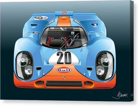 Porsche 917k Kurzneck Canvas Print