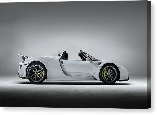 Sports Cars Canvas Print - Porsche 918 Spyder by Douglas Pittman