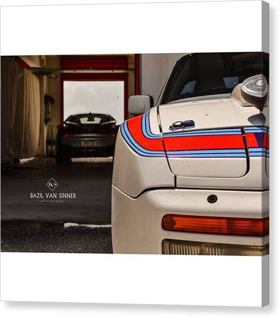 Martini Canvas Print - #porsche #944 #martini #stripes #bmw by Bazil Van Sinner