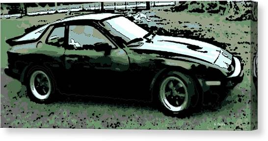 Porsche 944 On A Hot Afternoon Canvas Print