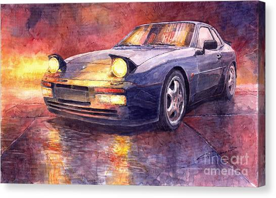 Porsche Canvas Print - Porsche 944 Turbo by Yuriy Shevchuk
