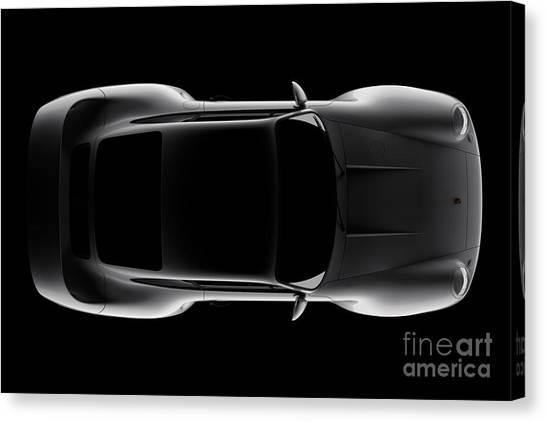 Porsche 959 - Top View Canvas Print