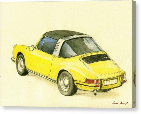 Porsche Canvas Print - Porsche 993 by Juan  Bosco
