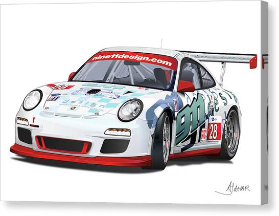 porsche 997 GT3 CUP Canvas Print