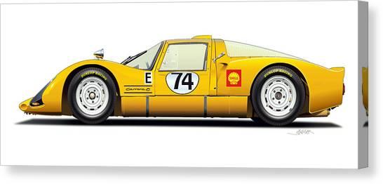 Transmission Canvas Print - Porsche Carrera 906 Illustration by Alain Jamar