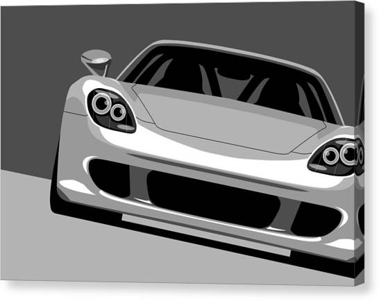 Porsche Canvas Print - Porsche Carrera Gt by Michael Tompsett