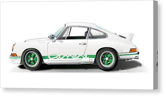 Porsche Carrera Rs Illustration Canvas Print
