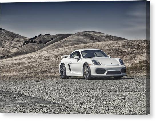 Porsche Cayman Gt4 In The Wild Canvas Print