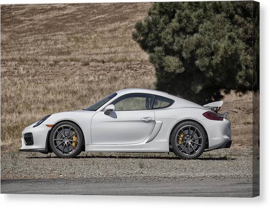 Porsche Cayman Gt4 Side Profile Canvas Print