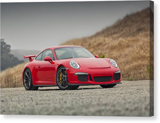 Canvas Print featuring the photograph Porsche 991 Gt3 by ItzKirb Photography
