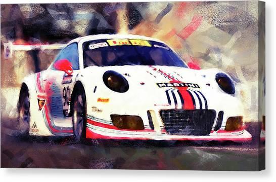 Porsche Gt3 Martini Racing - 04 Canvas Print by Andrea Mazzocchetti