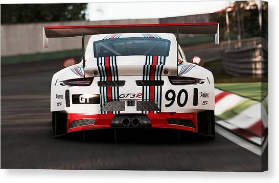 Porsche Gt3, Martini Racing, Monza - 03 Canvas Print
