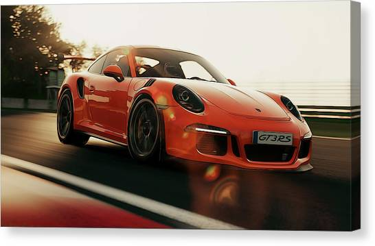 Porsche Gt3 Rs - 4 Canvas Print