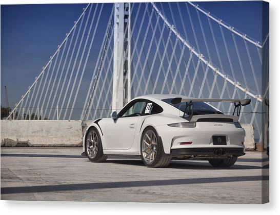 Canvas Print featuring the photograph Porsche Gt3rs by ItzKirb Photography