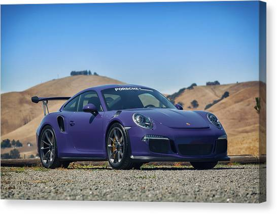 #porsche #gt3rs #ultraviolet Canvas Print