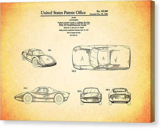 Car blueprint canvas prints page 4 of 25 pixels car blueprint canvas print porsche patent 1964 by mark rogan malvernweather Gallery