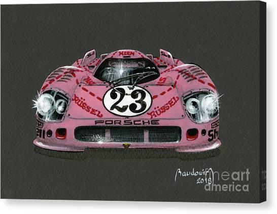 Cobra Canvas Print - Porsche Pink Pig by Alain Baudouin