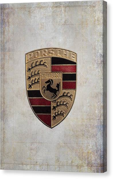Porsche Shield Canvas Print