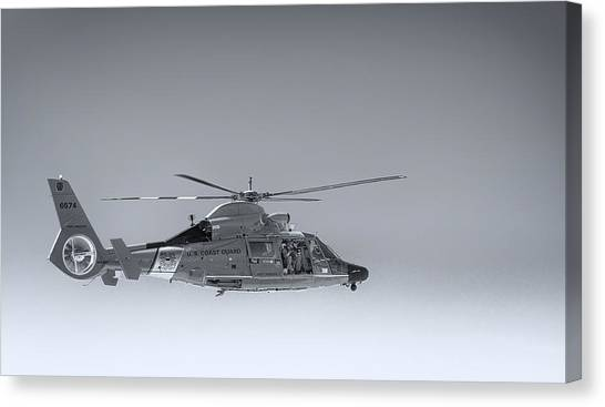 Coast Guard Canvas Print - Port Angeles Coast Guard Helicopter by Paul W Sharpe Aka Wizard of Wonders