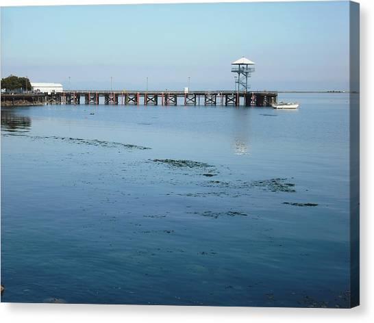 Port Angeles Pier Canvas Print