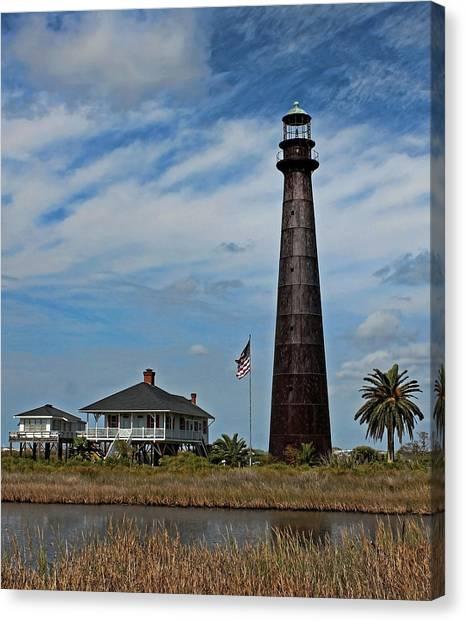 Port Bolivar Lighthouse Canvas Print