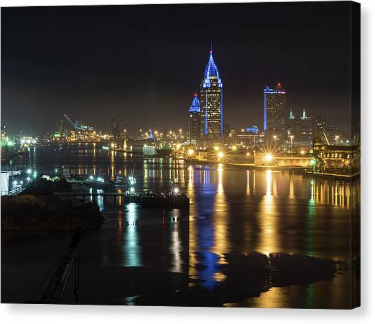 Port City Honors Blue Canvas Print