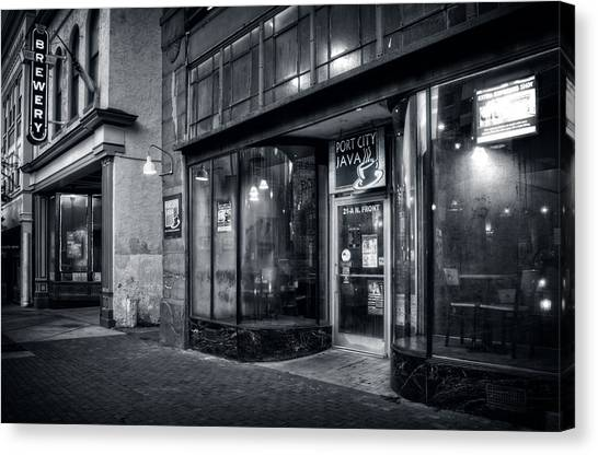 Port City Java In Black And White Canvas Print