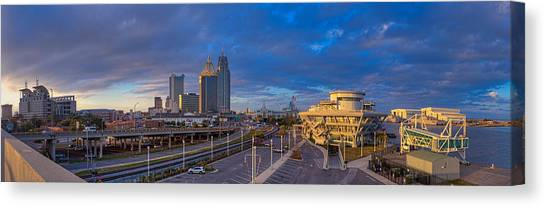 Port City Skyline Panorama Canvas Print