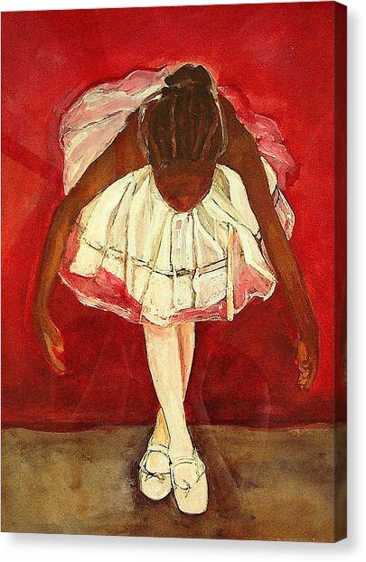 Ballet Shoes Canvas Print - Port De Bras Forward by Amira Najah Whitfield