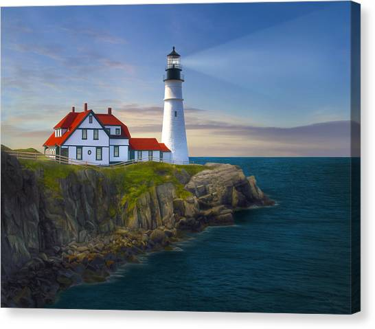 Atlantic 10 Canvas Print - Port Lighthouse by James Charles