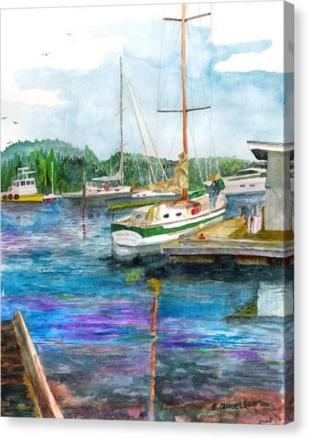 Port Mcneil Bc Canvas Print