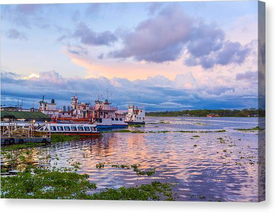 Amazon River Canvas Print - Port Of Iquitos Peru by Jess Kraft