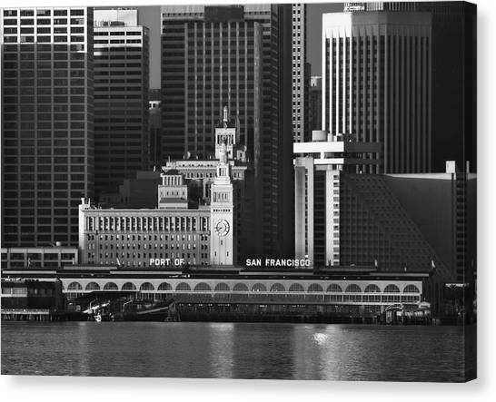 Port Of San Francisco Canvas Print