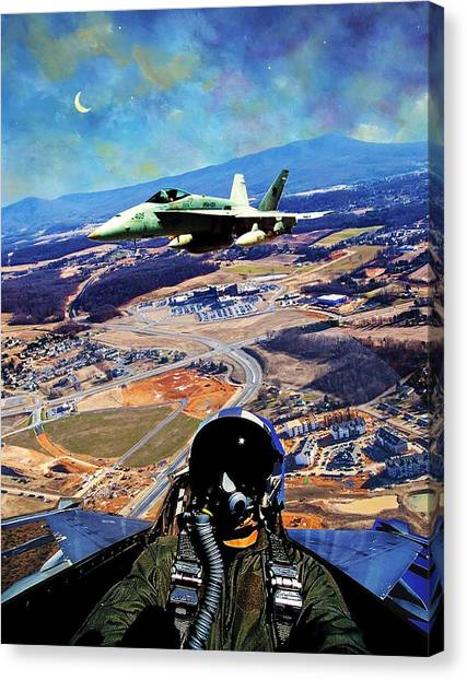 James Madison University Jmu Canvas Print - Port Republic Airstrike by James Jarrels