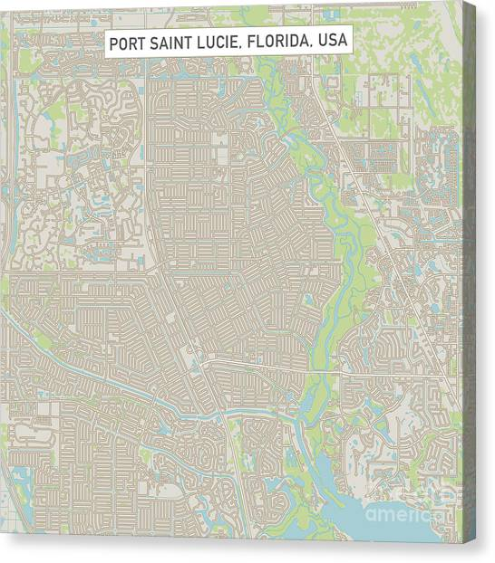 Where Is Port St Lucie Florida On The Map.Florida Map Canvas Prints Page 16 Of 17 Fine Art America