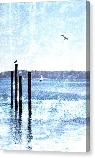 Northwest Canvas Print - Port Townsend Pilings by Carol Leigh