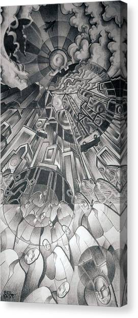 Portals Canvas Print by Myron  Belfast