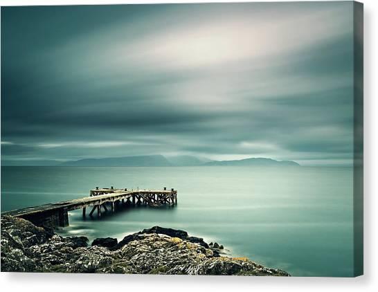 Portencross Pier Canvas Print