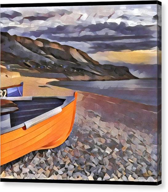 Portland Chesil Beach Canvas Print