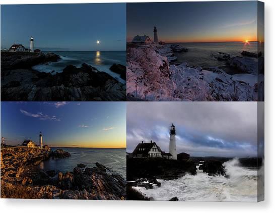 Portland Head Light Day Or Night Canvas Print